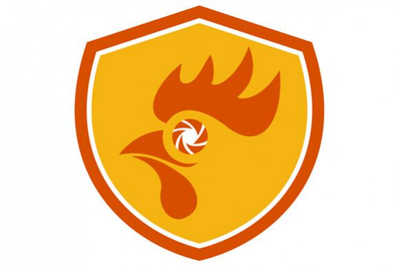 Rooster Eye Shutter Crest Retro example image 1