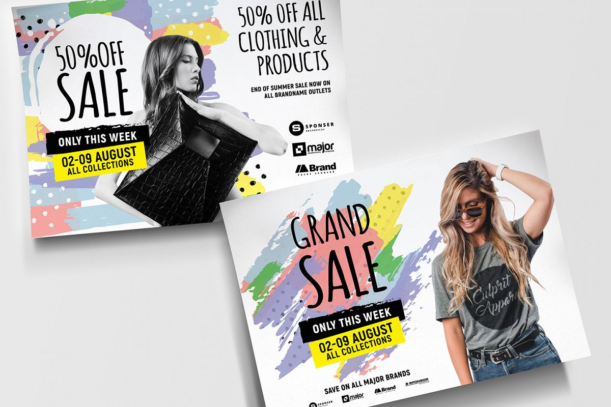 A4 Grand Sale Advertisement Templates example image 1