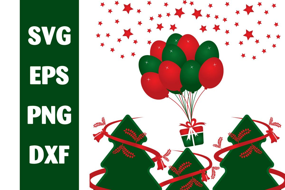 Merry Christmas Vector Design. example image 1