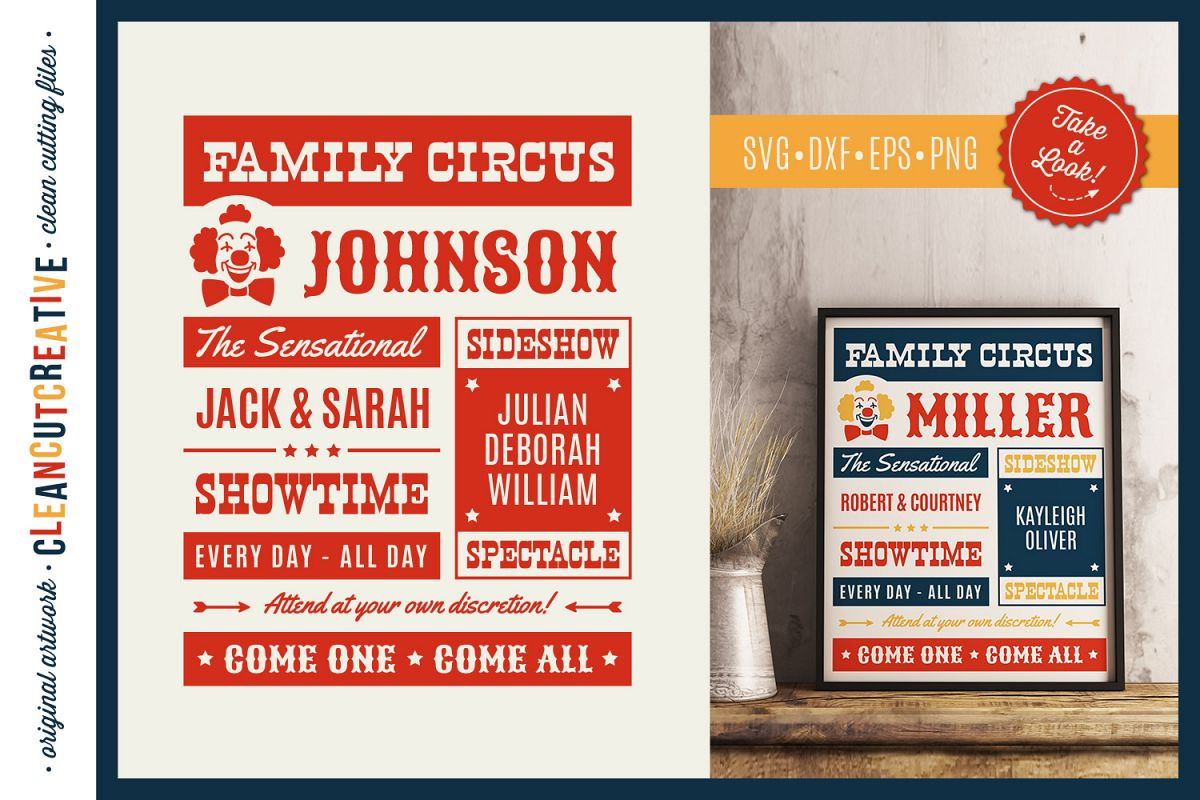 Funny FAMILY CIRCUS svg cut file for Cricut Silhouette SnC example image 1