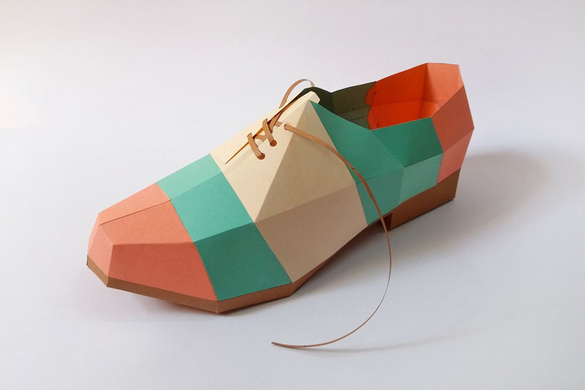 DIY Colorful Shoe - 3d papercrafts example image 1