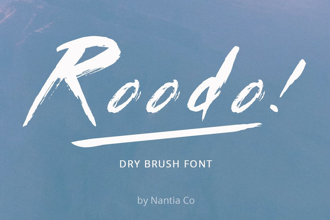 Roodo Dry Brush Font example image 1