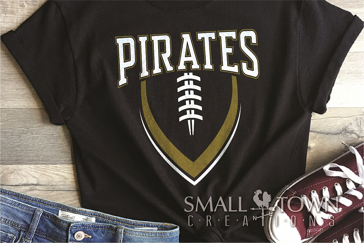 Pirate, Football, Sports, Design, Logo, PRINT, CUT, DESIGN example image 1