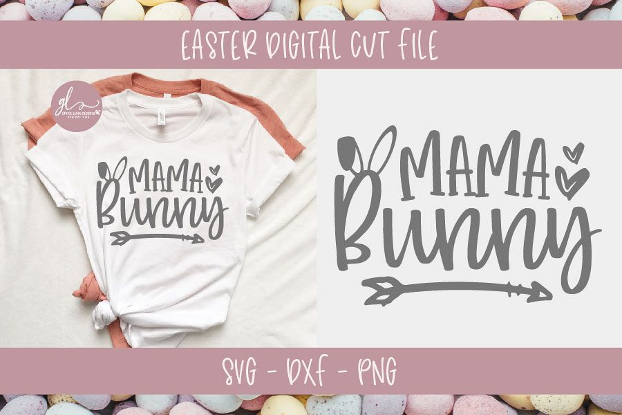 Mama Bunny - Easter SVG Cut File example image 1
