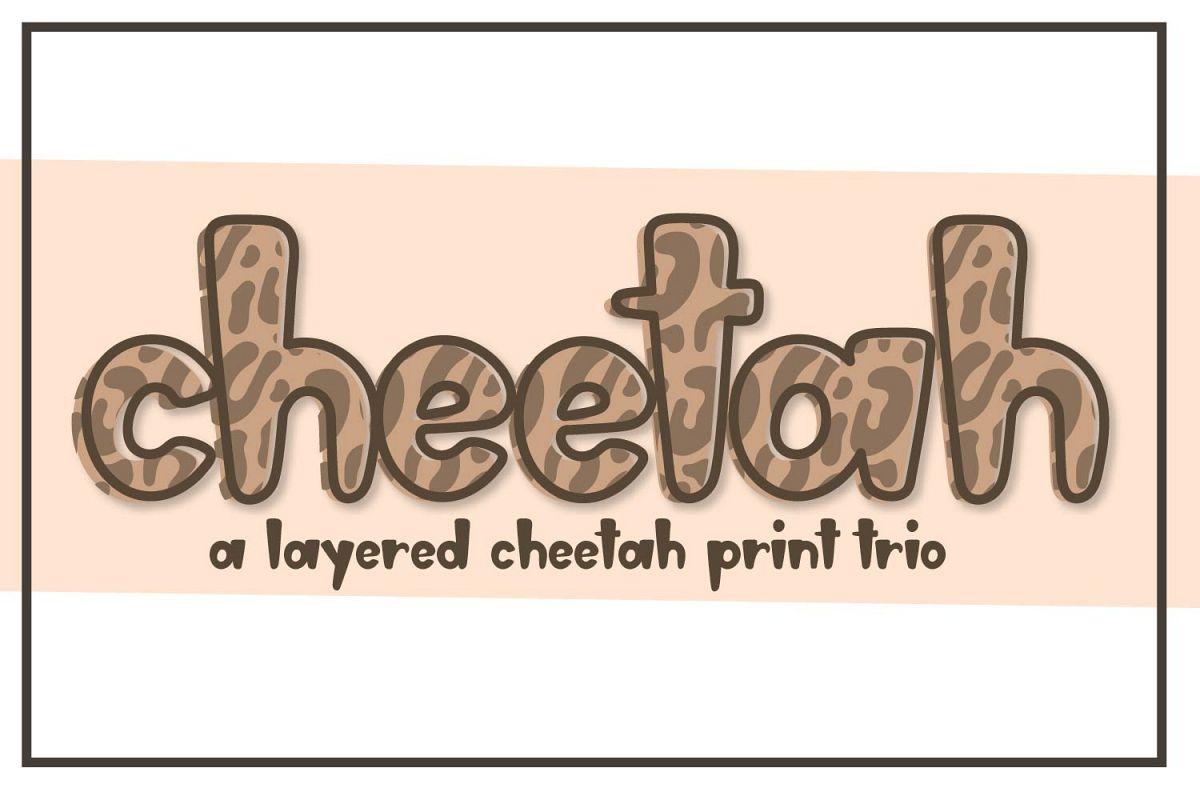 Cheetah - A Layered Cheetah Print Trio example image 1