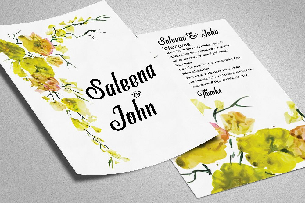 Double Sided Save The Date Card example image 1