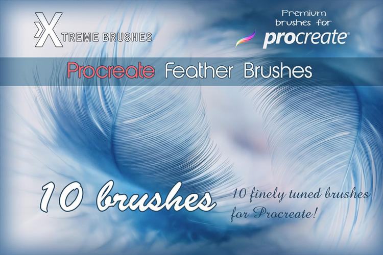 Procreate Feather Brushes example image 1