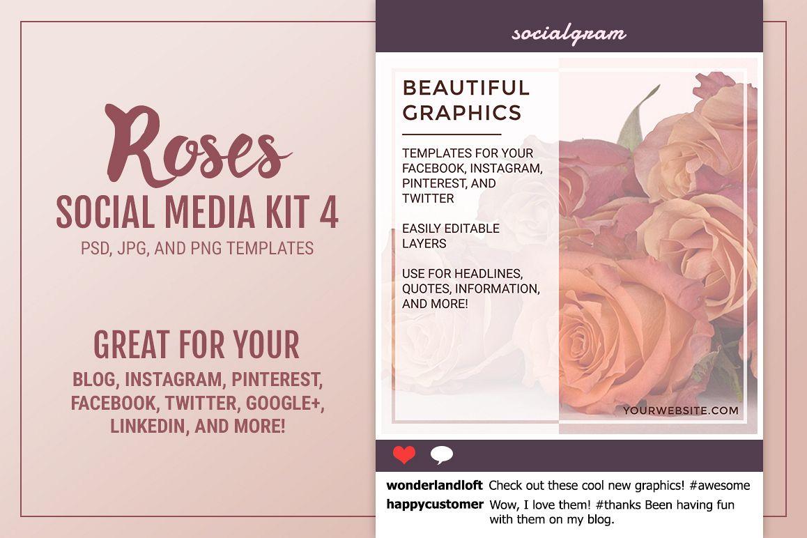 Roses Social Media Kit 4 example image 1