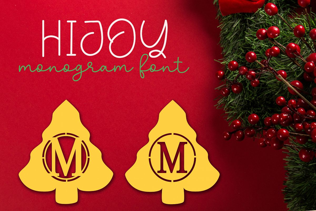 Hijoy | Monogram Font Christmas example image 1
