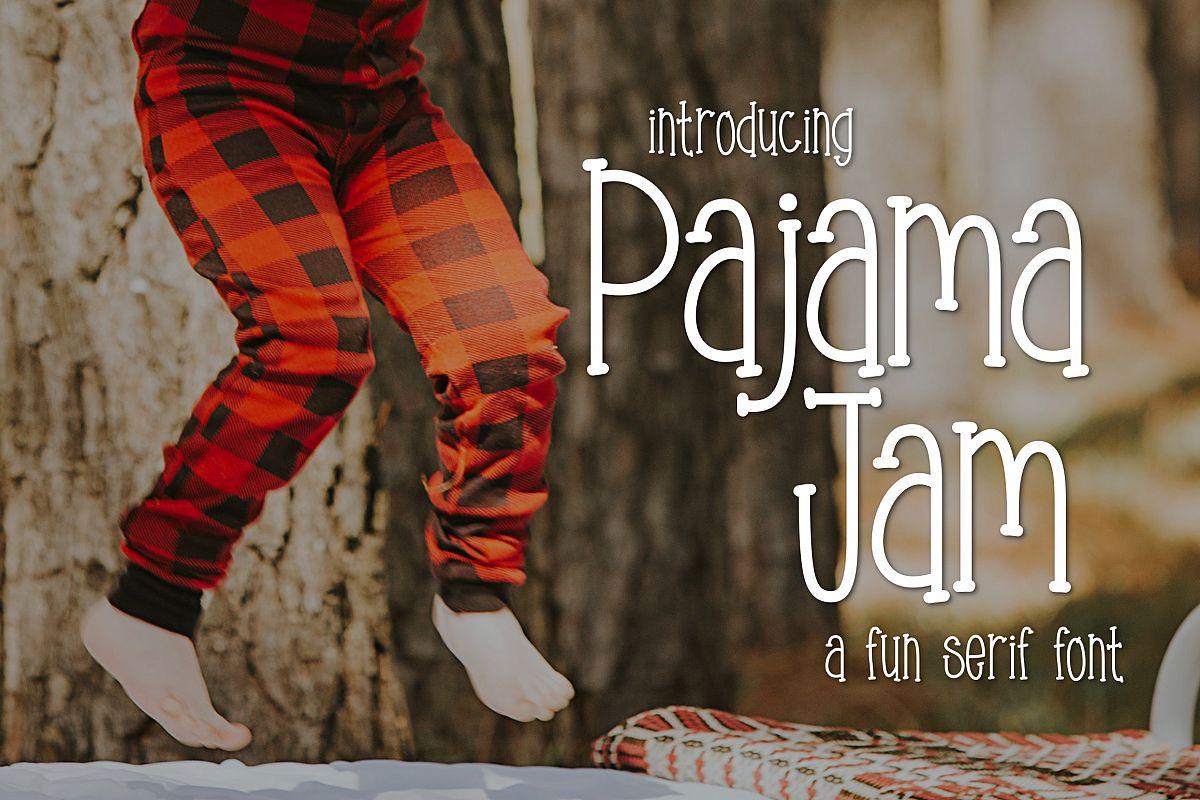 Pajama Jam a Fun Serif Font example image 1