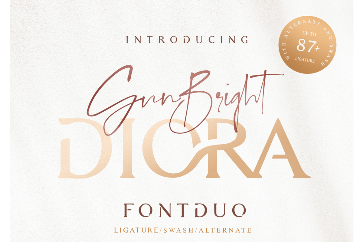 Diora Sunbright Font Duo example image 1