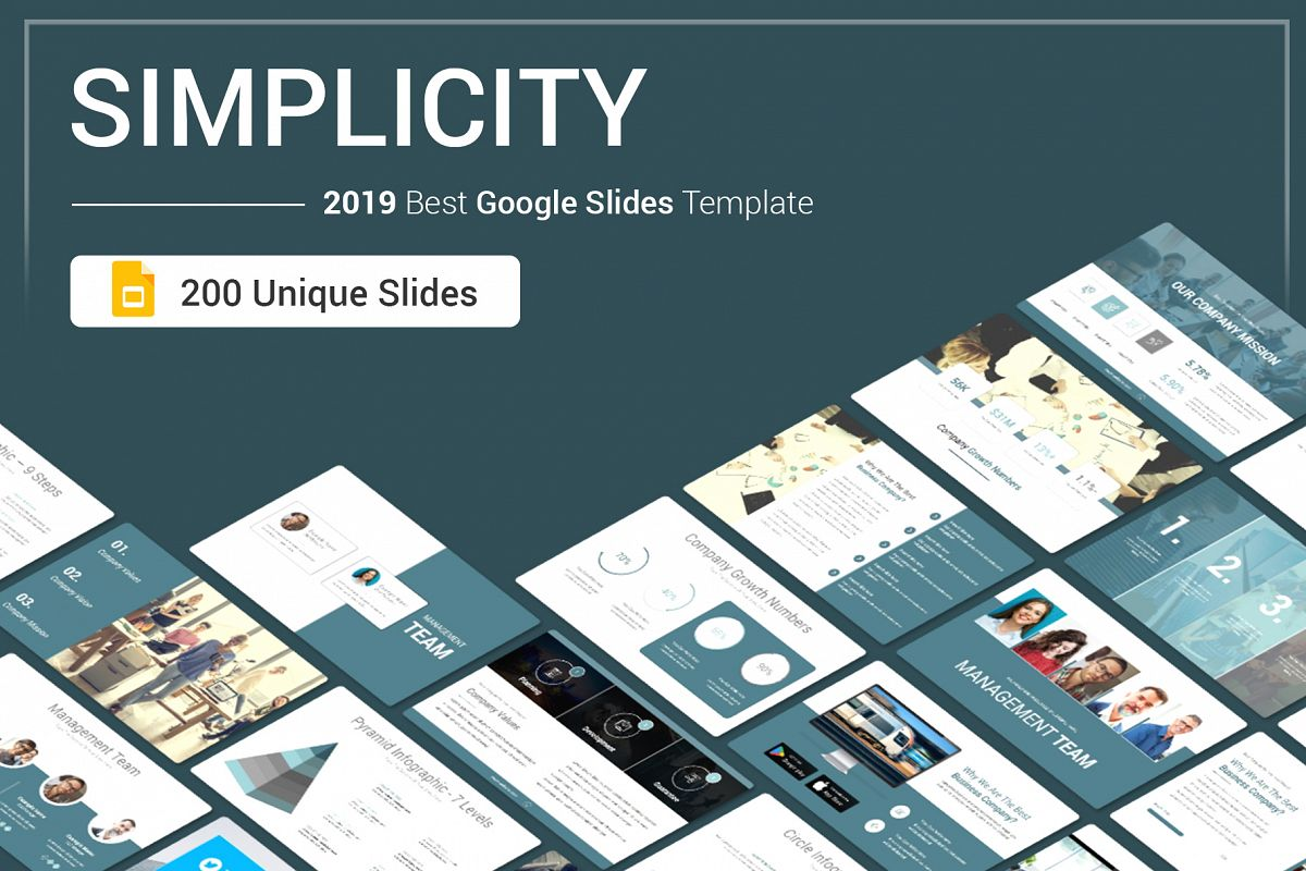 Simplicity Google Slides Template example image 1