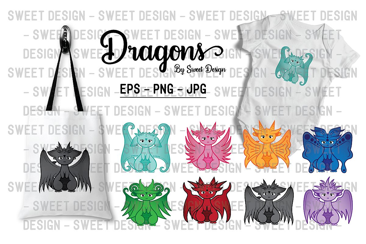 Cute little dragons example image 1