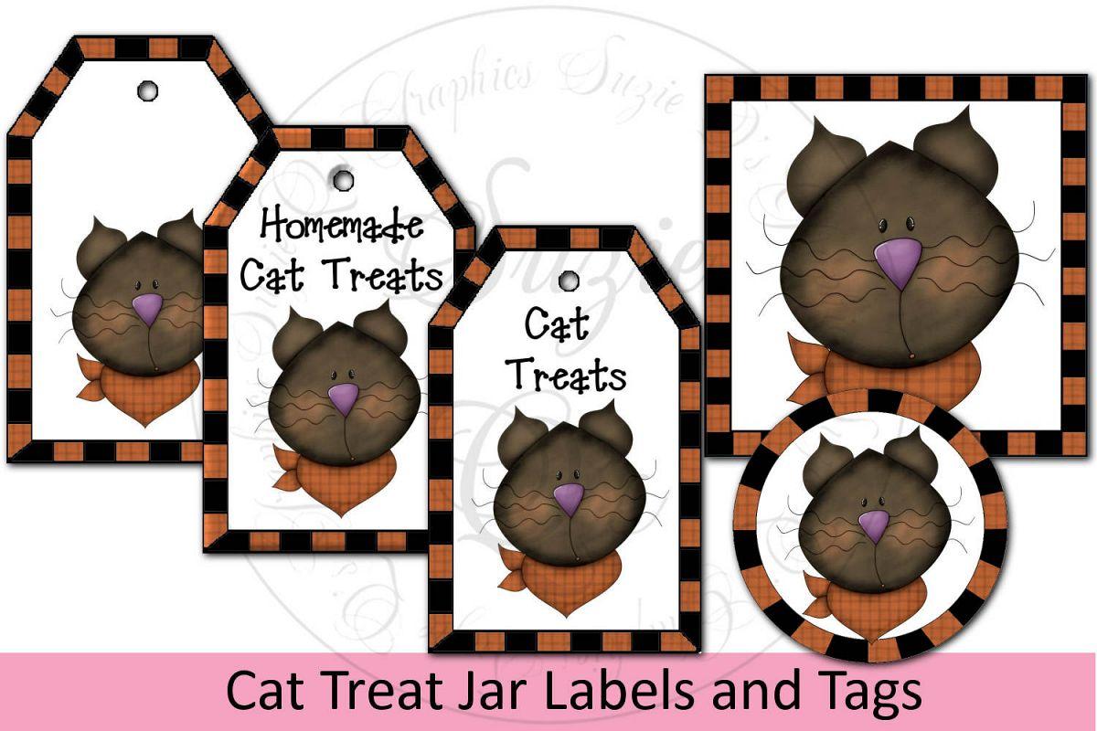 Cat Treat Jar Kit - labels & tags example image 1