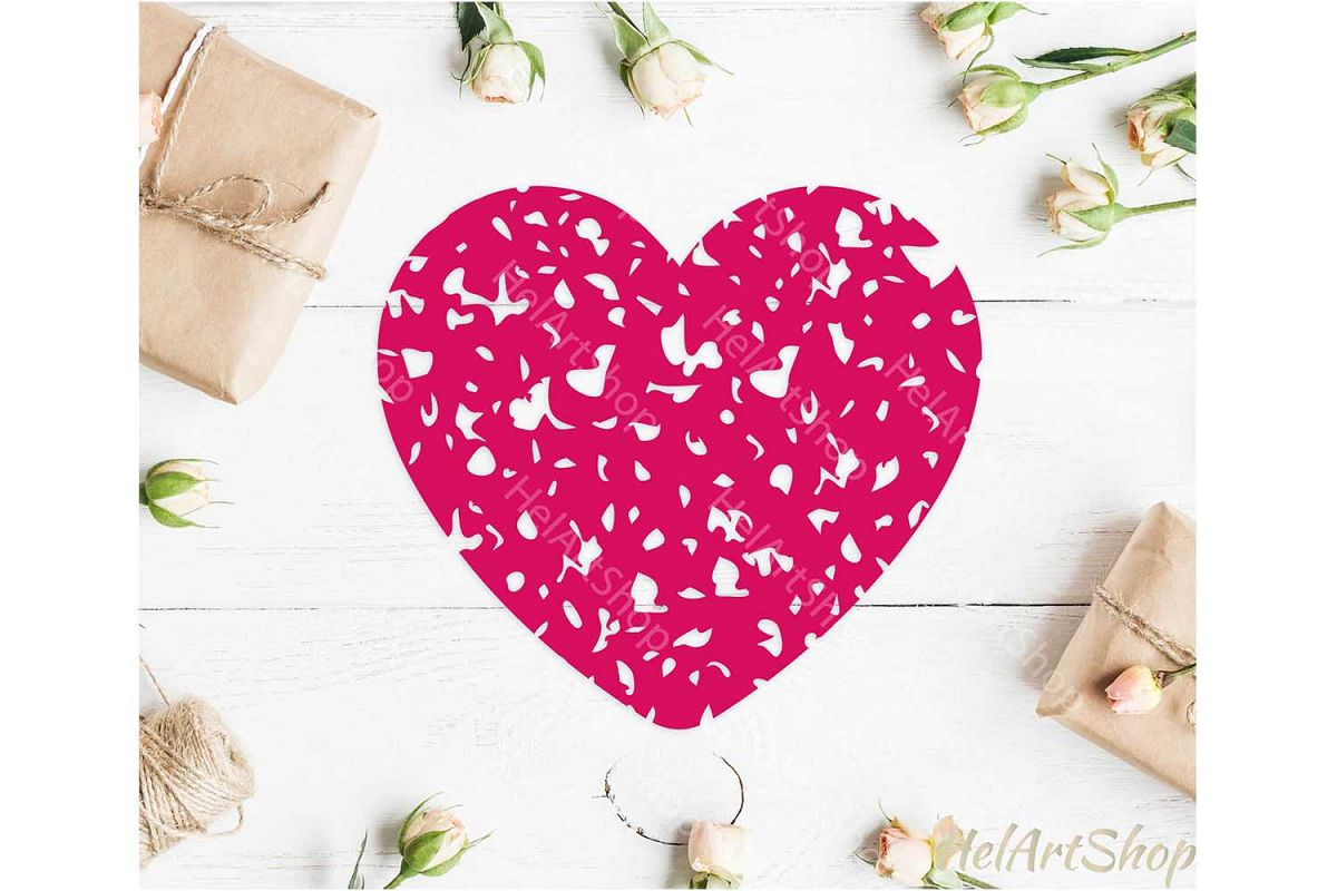 Distressed Heart svg, Grunge Heart svg, Valentines Day example image 1