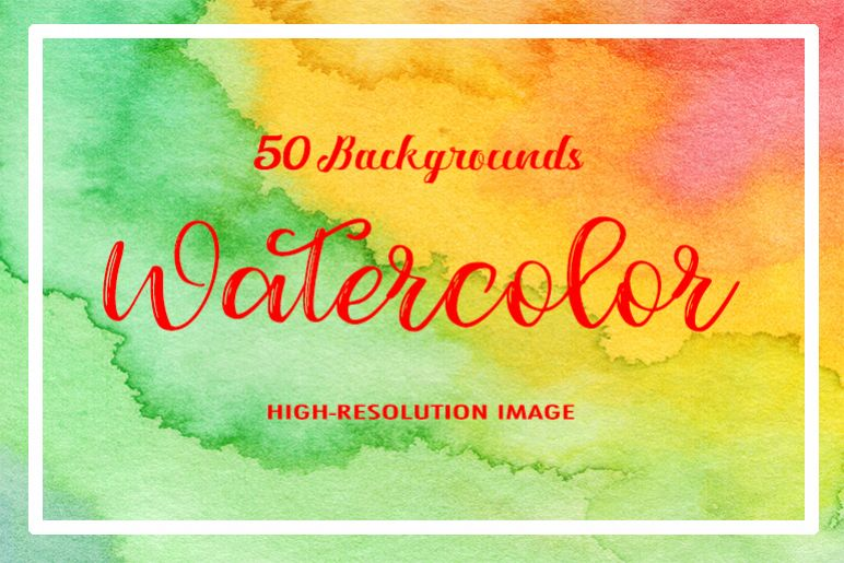 50 Watercolor Backgrounds 05 example image 1