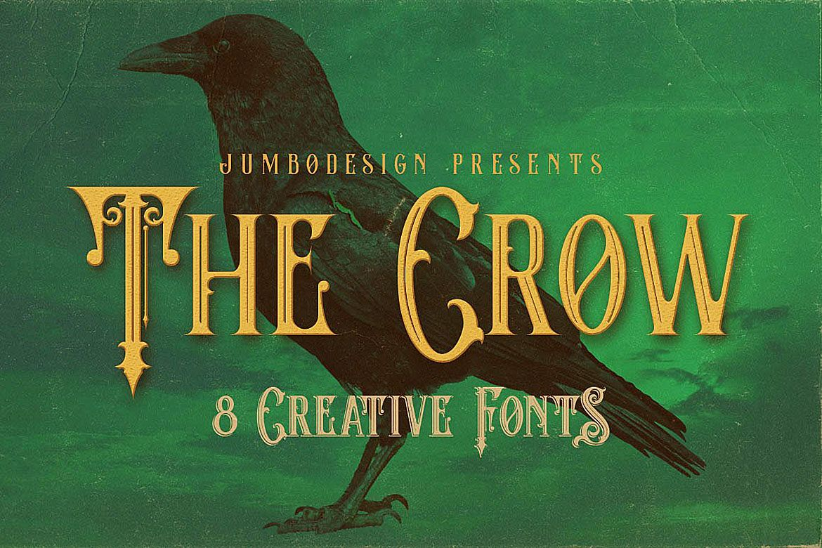 The Crow - Vintage Style Font example image 1