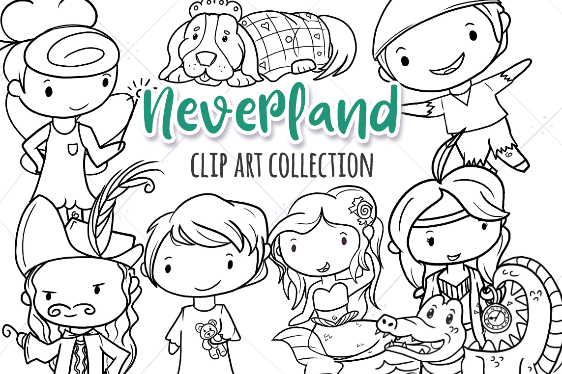 Neverland Story Book Digital Stamps example image 1