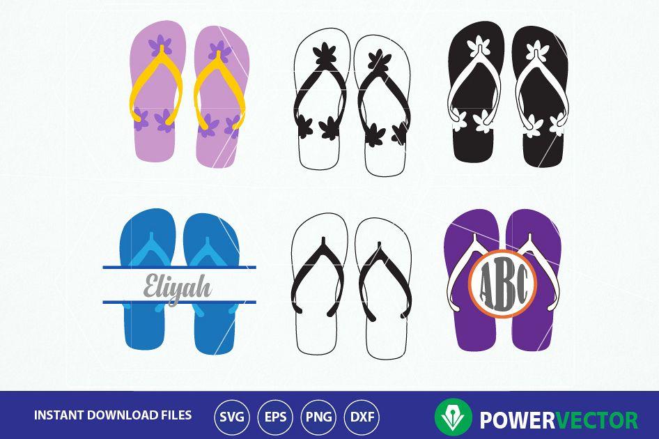 e36a26475 Flip flops Svg. Flip flops Clip art Print and Cut files example image 1