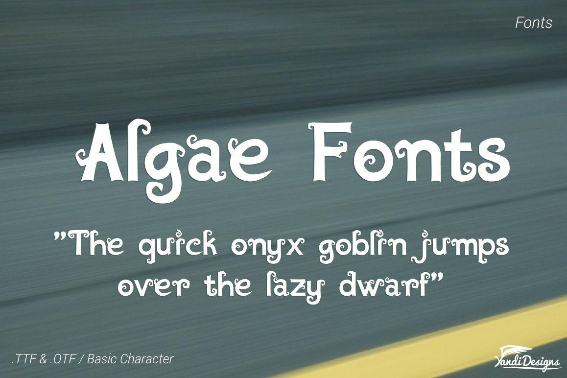 Algae  Fonts 1