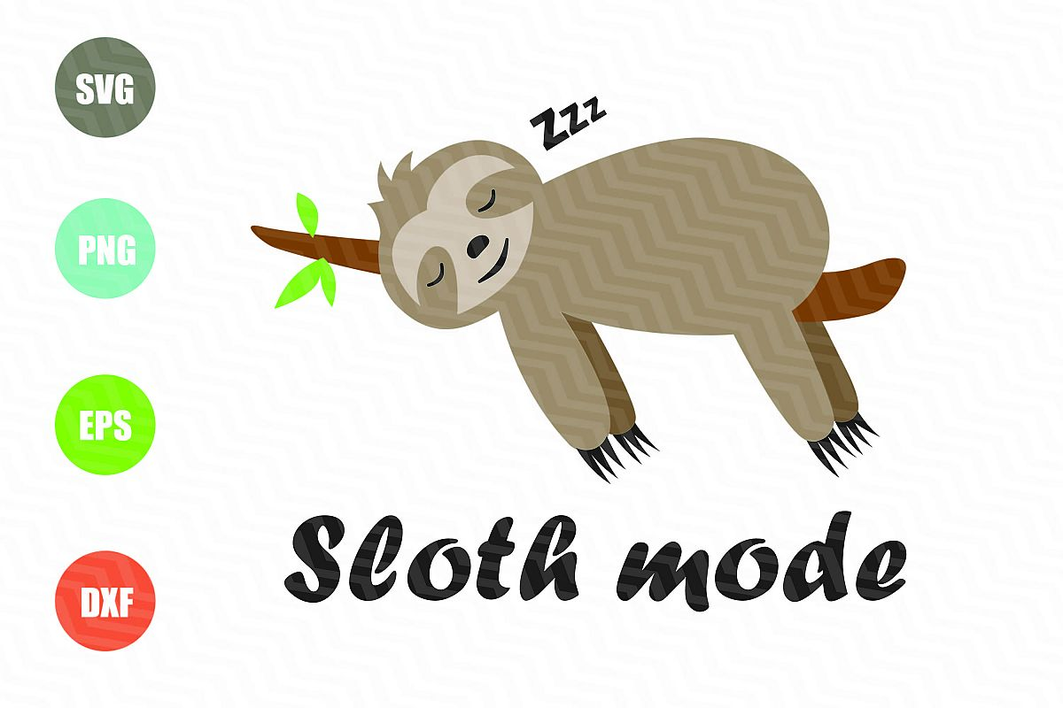 Sloth Mode SVG example image 1