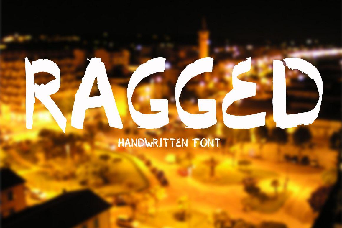 Ragged. Handwritten font. example image 1