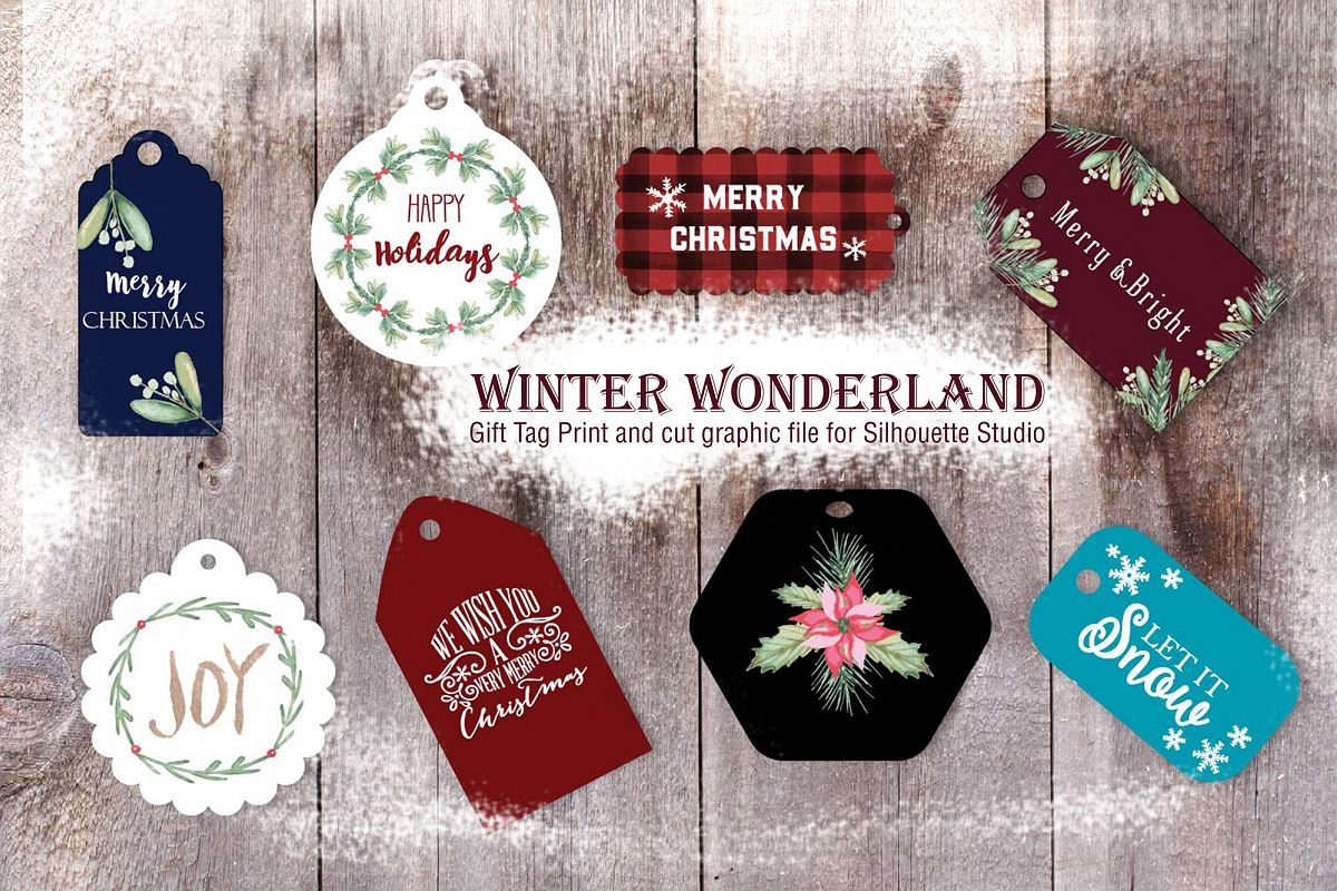 Winter Wonderlant Print and cut Graphic file for Silhouette example image 1
