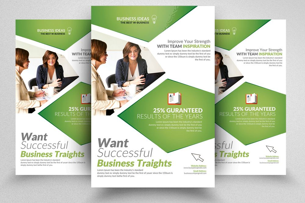 Global Communications Company Flyer Templates