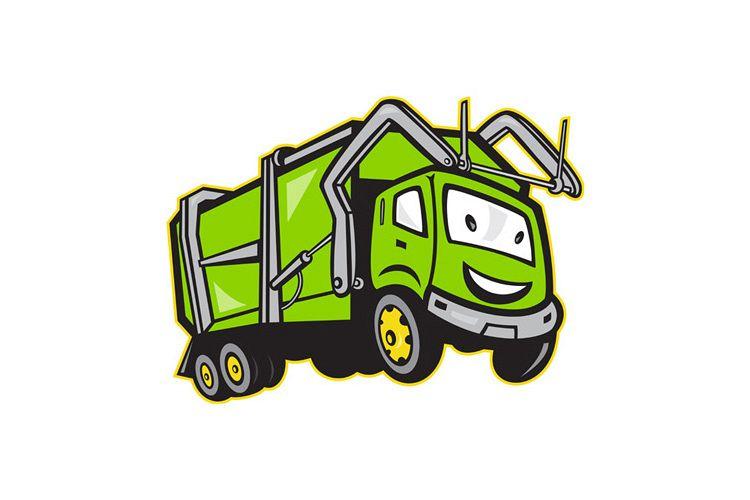 Garbage Rubbish Truck Cartoon example image 1