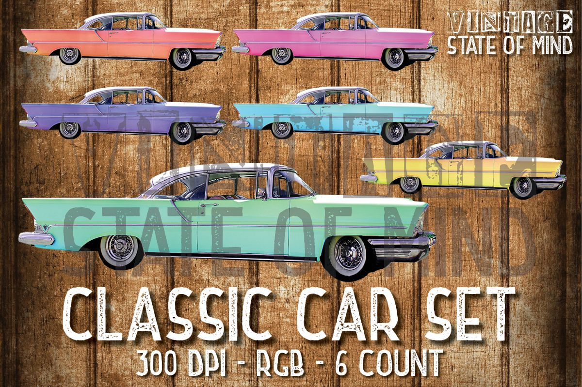 Classic Car Sublimation Graphics example image 1