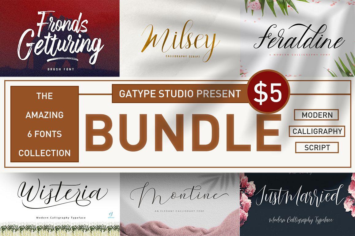 The amazing fonts bundle example image 1
