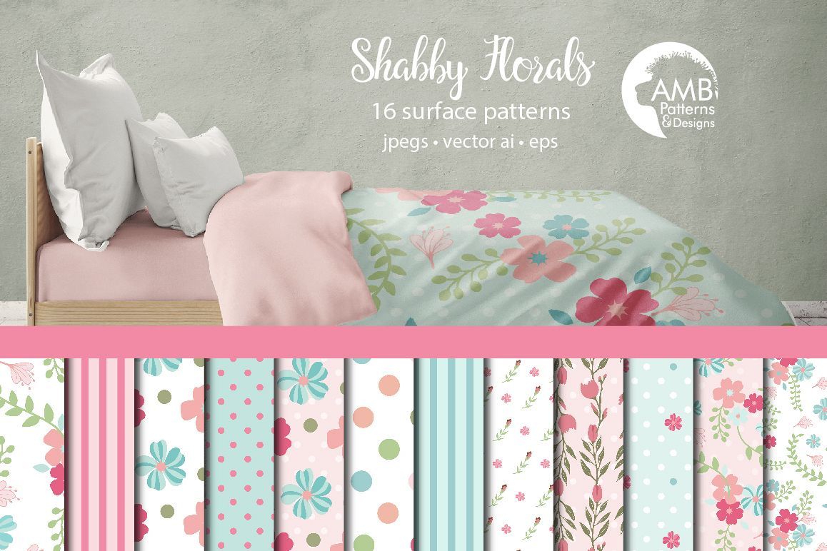 Shabby Floral patterns AMB-853 example image 1