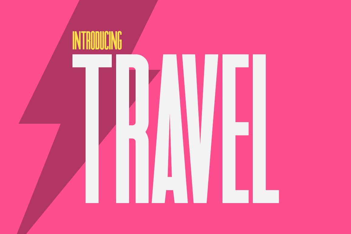 Travel Sans Font example image 1