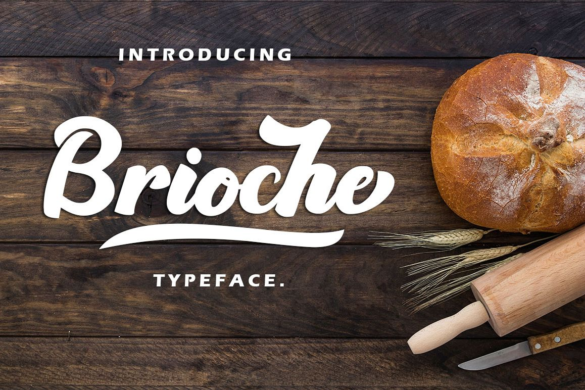 Brioche - Bold Script Typeface example image 1
