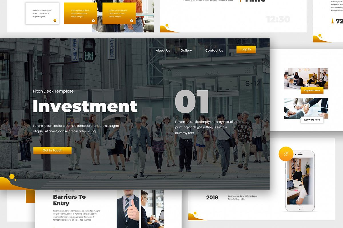 Investment Pitch Deck Google Slides example image 1