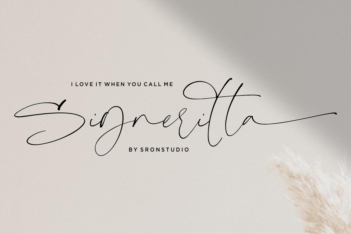 Signeritta - Elegant Signature example image 1