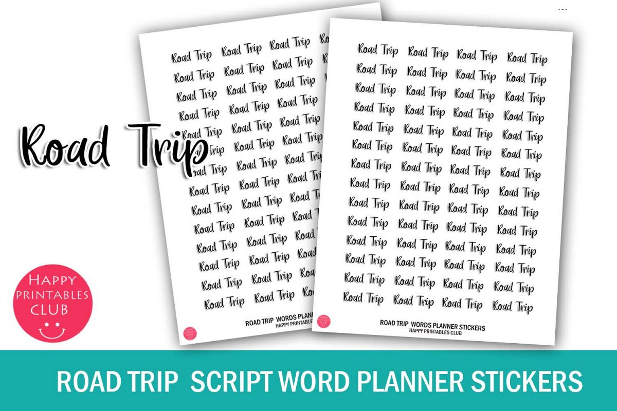 It is a photo of Printable Road Trip Planner with regard to checklist