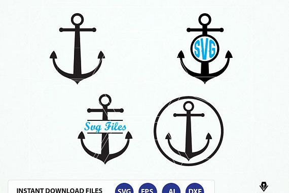 Viewing Product Anchor Svg Monogram