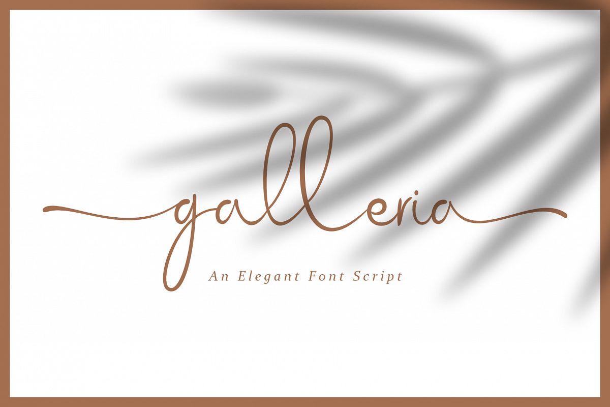 Galleria Script example image 1