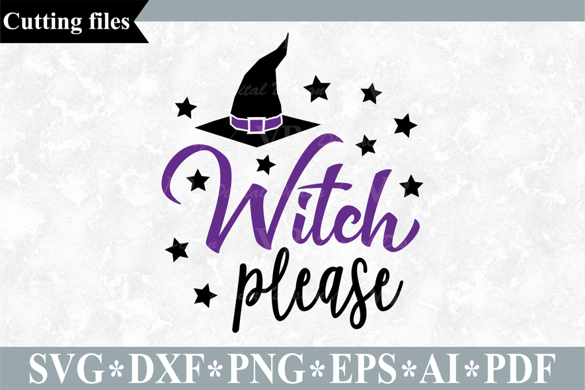 Witch please SVG, Halloween cut file example image 1