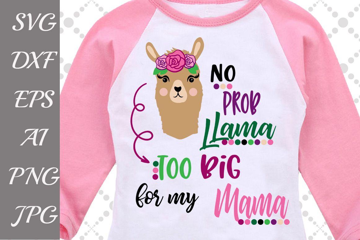No Prob Llama Svg example image 1