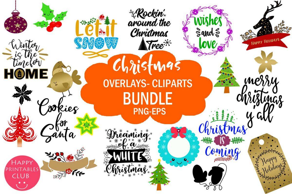 Christmas Overlays-Clipart Bundle-Holiday Overlays Bundle example image 1