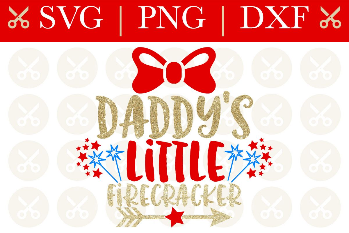 4th Of July Svg Daddy's Little Firecracker Svg Cutting File example image 1