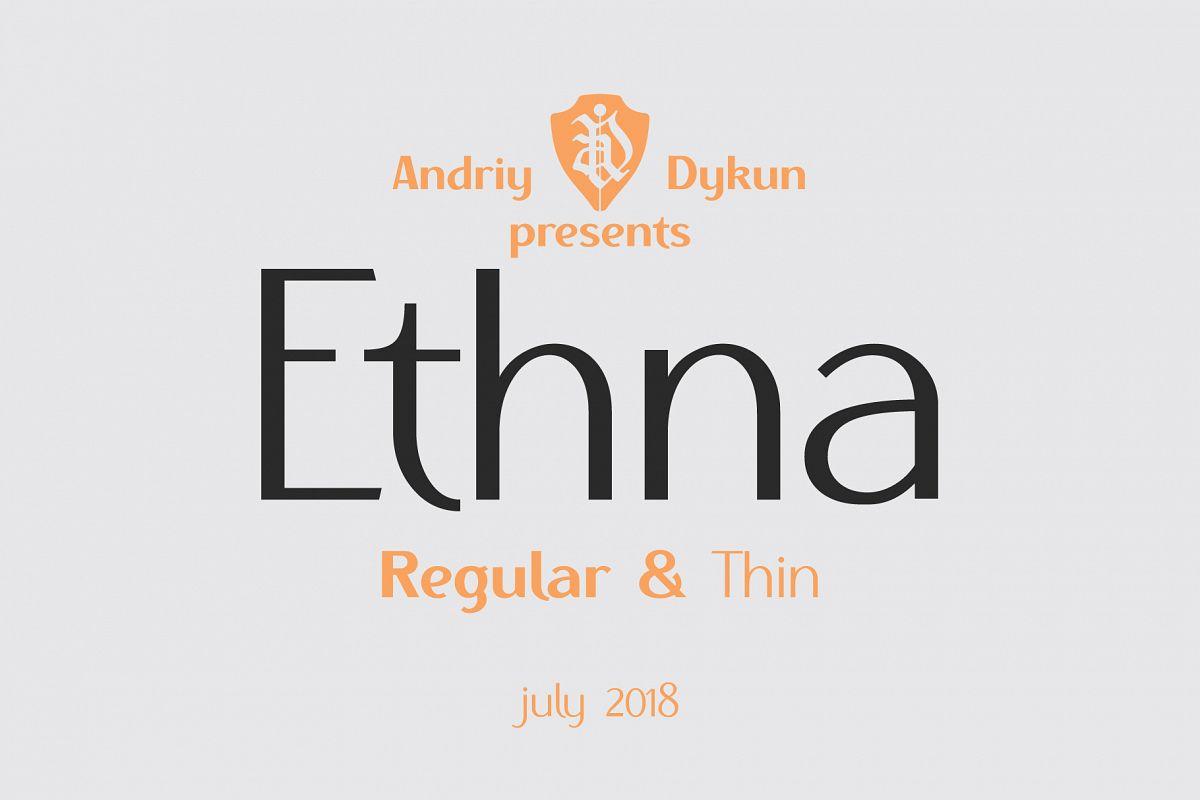 Ethna regular & thin example image 1