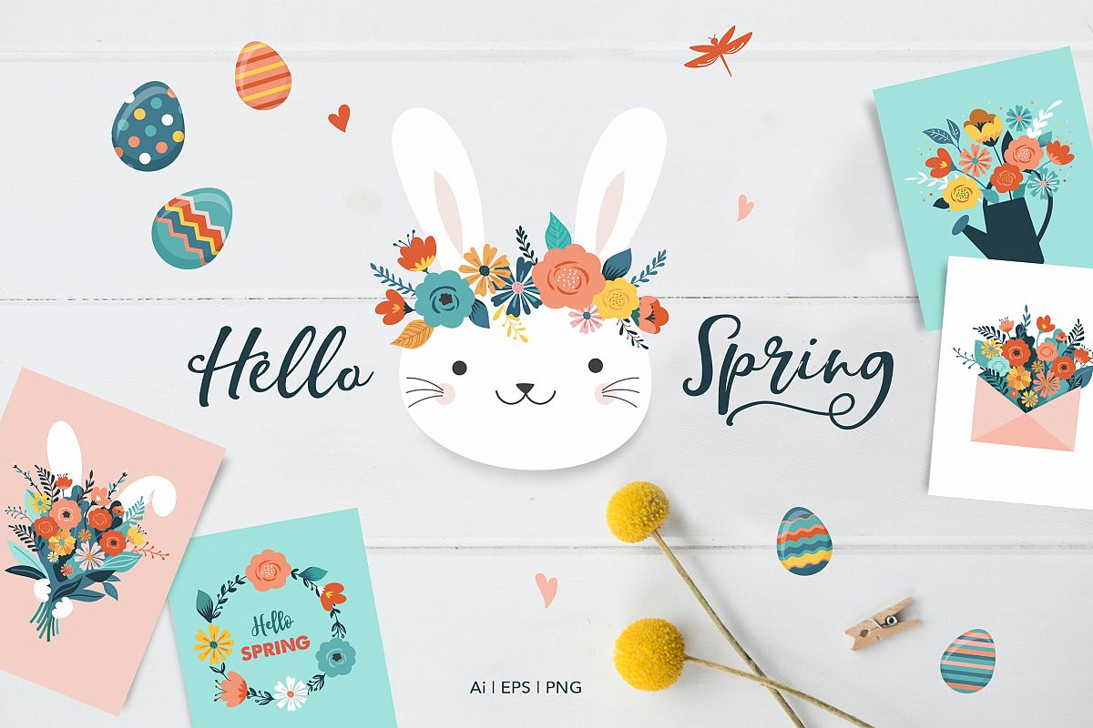 Hello Spring I Easter collection example image 1