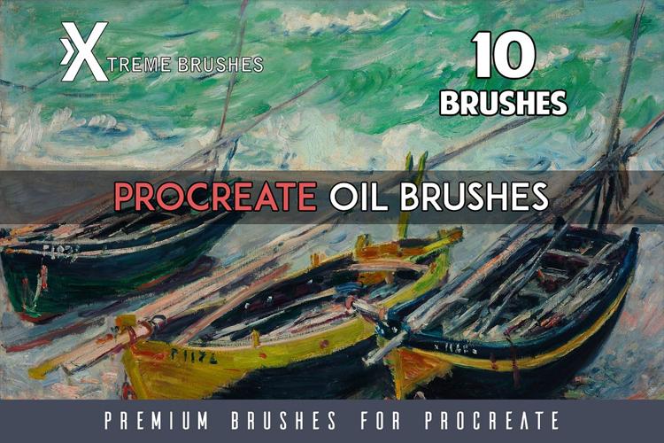 Procreate Oil brushes example image 1