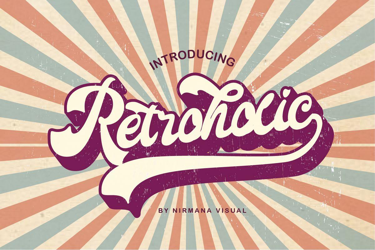 Retroholic - Retro Font example image 1