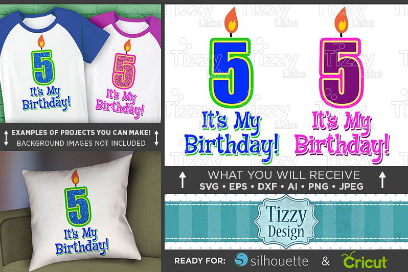 5th Birthday Svg - Its My Birthday SVG Birthday Shirt - 1032 example image 1