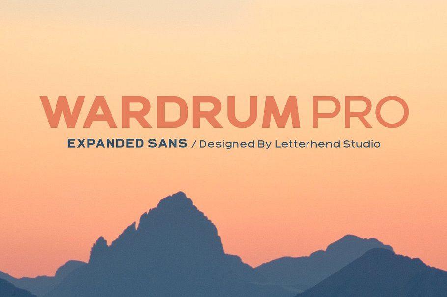 Wardrum PRO Sans Serif example image 1