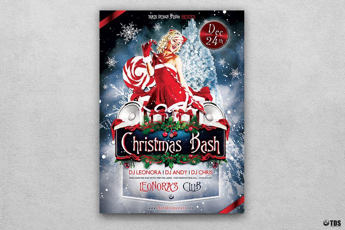 Christmas Bash Flyer Template V1 example image 1